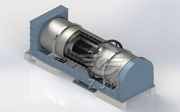 钢厂污泥烘干设备结构采用三套筒结构